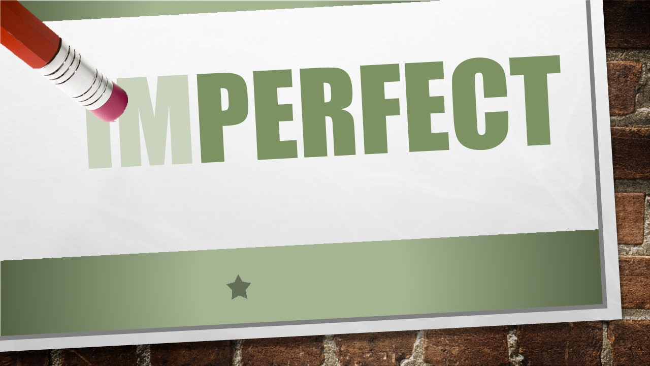 God expects perfection